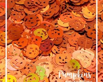 Glitter Pumpkins Shape Orange Glitter Pumpkin Glitter Chunky Glitter Pumpkin Shapes Pumpkin Confetti Nail Art Glitter Shapes