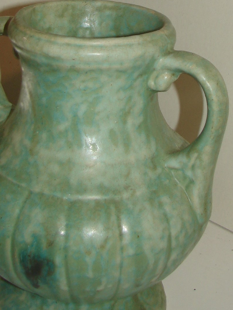 Early Nelson McCoy Pottery Handled Urn Vase