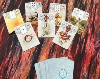 Lenormand mini deck, oracle deck, lenormand, tarot deck, lenormand cards,  Lenormand, 36 Card Deck 5*8 cm
