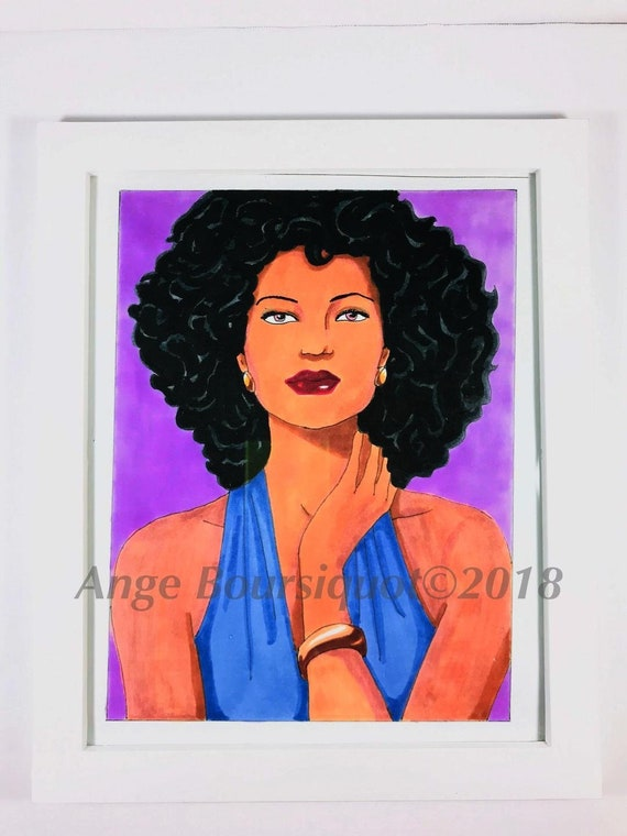 African american afro art