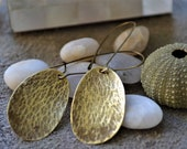 prehistories collection. Hammered brass earrings
