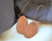 Prehistories Collection - Prints.Stamped copper earrings