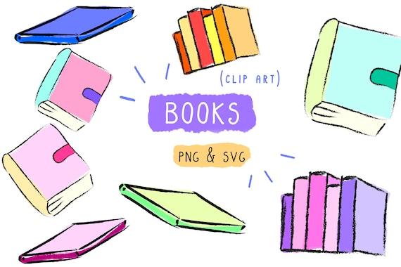 Books Clip Art Handmade Vector Png Svg Icon Digital Clipart Printable Download Hand Drawing Illustration Bundle Artwork Stationary