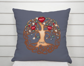 Fathers Day Gift From Kids Personalized Dad Gifts For Pillow Ideas Birthday Present