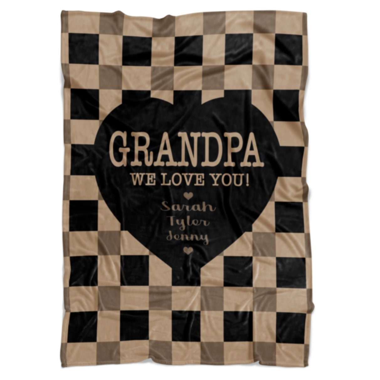 Grandpa Blanket Personalized Grandparent Gifts Christmas Gift For Grandpa Gift From Grandkids Grandfather Gift For Man Who Has Everything