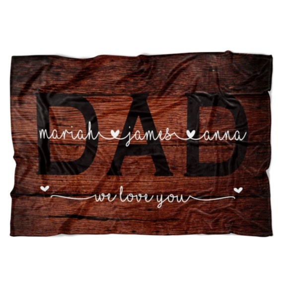 Christmas Gift Ideas For Dad.Personalized Dad Blanket Dad Gift For Dad From Kids Christmas Gift Ideas Christmas Blanket Christmas Gift From Kids Dad Birthday Gift