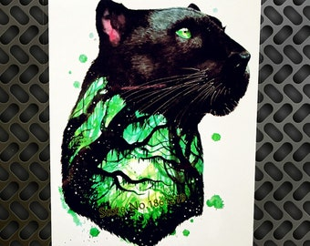 c453ed0a0 Panther Tattoo, Temporary Tattoo, Forest Tattoo , Fake Tattoo ,Festival  Tattoo ,BOHO