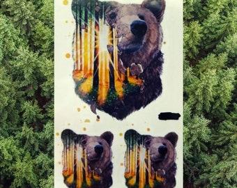 Black Bear Tattoo Etsy
