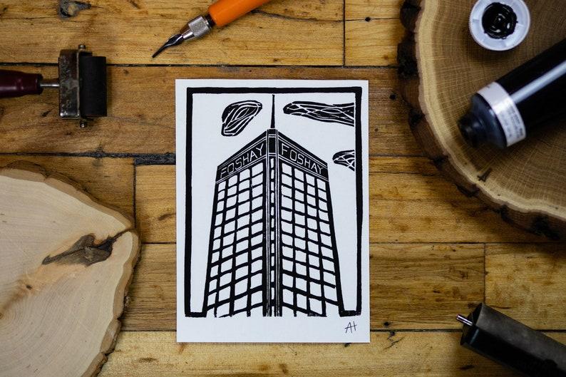 Minneapolis Foshay Tower Linocut Print image 0