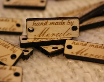 Custom Wooden labels,Custom Name Tags,labels for handmade products, wooden tags,Customized Tags, Custom Tags for Clothing and Handmade