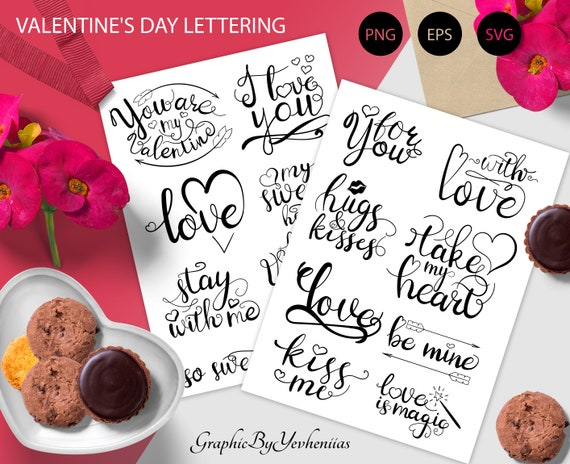 Christmas clipart Set  winter word art graphic  christmas hand lettering  outline  svg png eps  clipart new year xmas  commercial use
