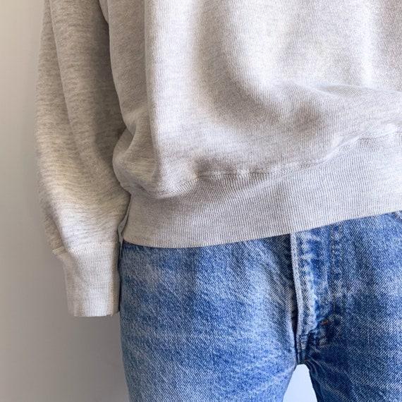Vintage 60's Raglan Sweatshirt in Heather Grey - image 3