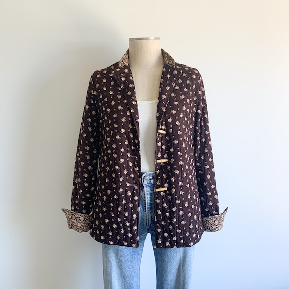 Vintage Cotton Quilted Ditsy Floral Jacket