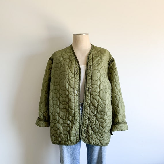 Vintage Green Quilted Liner Jacket
