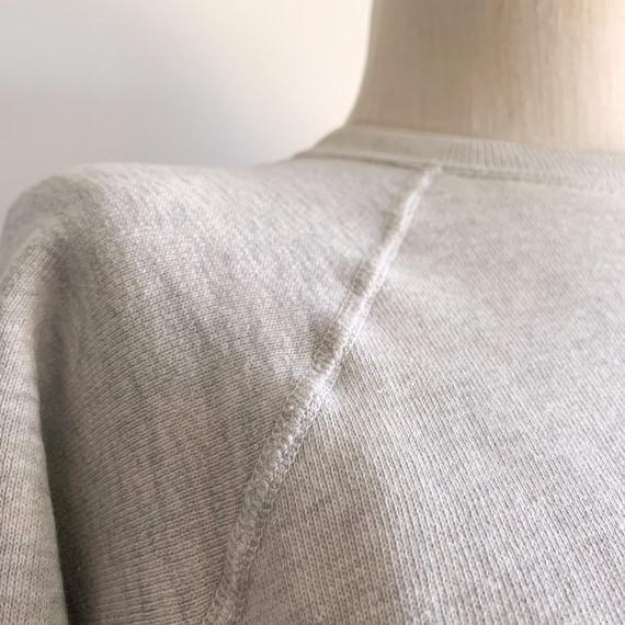 Vintage 60's Raglan Sweatshirt in Heather Grey - image 6