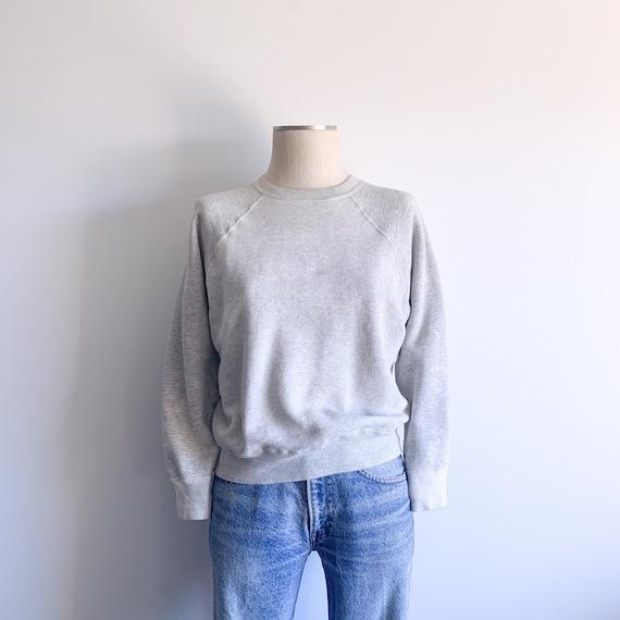 Vintage 60's Raglan Sweatshirt in Heather Grey