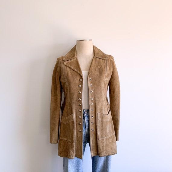 Vintage 70s Tan Suede Jacket