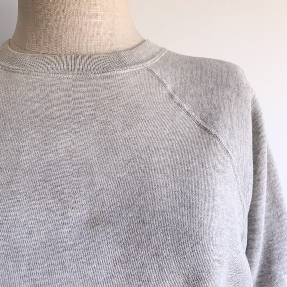 Vintage 60's Raglan Sweatshirt in Heather Grey - image 2