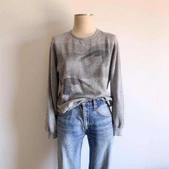 Vintage Thin + Soft Heather Grey Crewneck Sweatshi