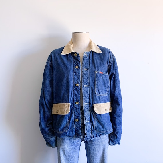 Vintage Big Smith Quilt Lined Denim Chore Jacket