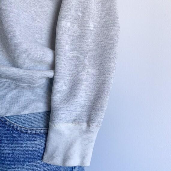 Vintage 60's Raglan Sweatshirt in Heather Grey - image 7