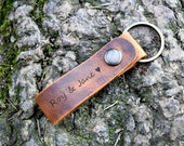 Personalized Keychain, Custom Keychain, couple keychain, Latitude longitude Keychain, Leather Key Chain, Coordinates Keychain, Mens gift