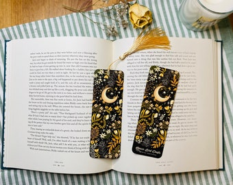 Moon Light Bookmark | Book Accessories, Illustrated Bookmark, Reading, Bookish Gift, Paper Bookmark, Moon Bookmark