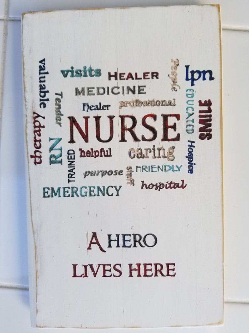 Salute to Nurses/Hero Series/wall hanging/recycled/pallet art image 0