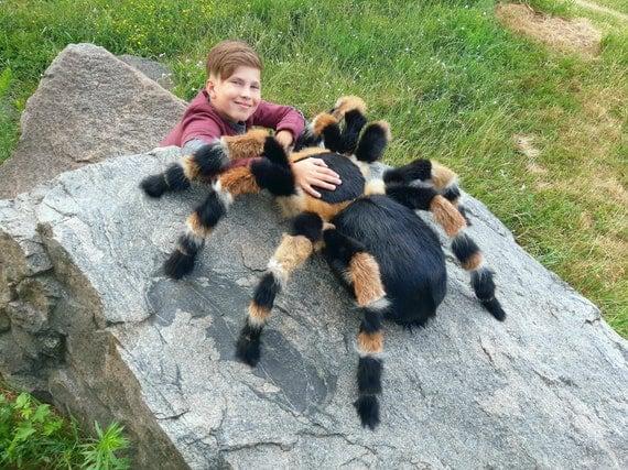 Tarantula Stuffed Animal, Halloween Spider Plush Arachnophobia Monster Giant Tarantula Etsy