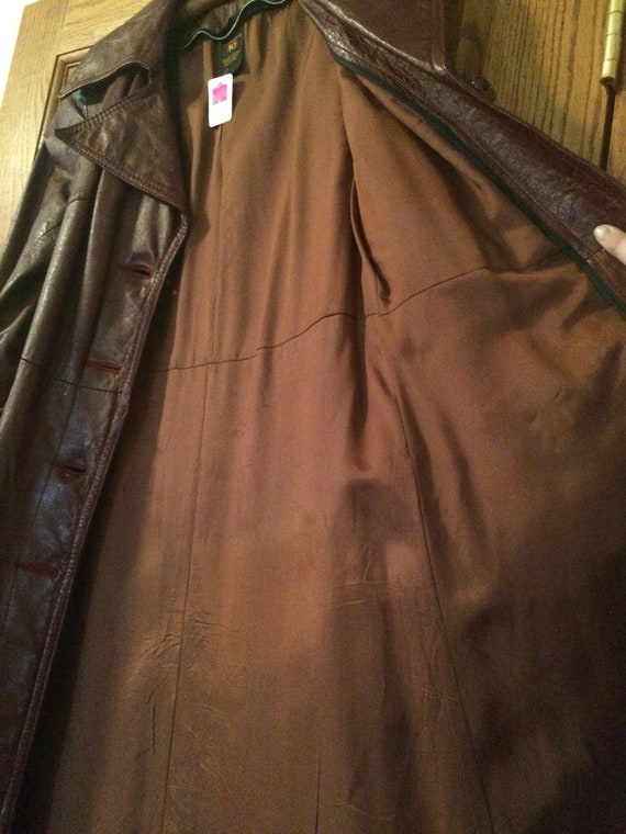 Long leather trench 70's! - image 6