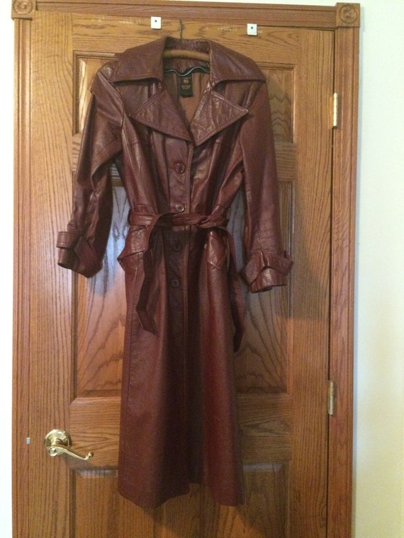 Long leather trench 70's!