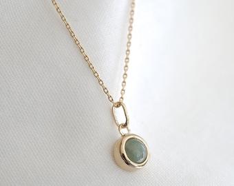 Pendant for aventurine necklace, 18k gold