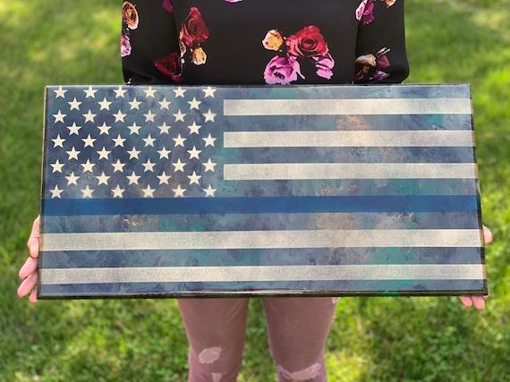Wooden American Flag, American Flag Ornament