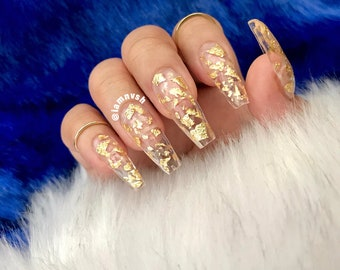 Press On Coffin Nails Etsy