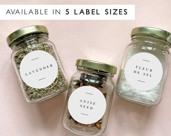 Classic Elegant Kitchen Labels Printable Template, Editable Round Spice Jar Labels, Customizable Pantry Labels, Instant Download CK81