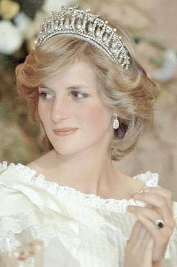 Princess Diana Bridal Tiara Wedding Crown Birthday Etsy