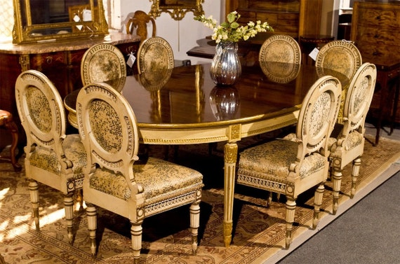 Cool Set Of Four Directoire Style Antique Dining Chairs Pabps2019 Chair Design Images Pabps2019Com