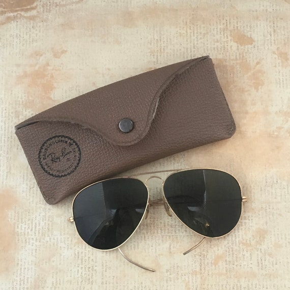 Vintage 1980s Ray Ban Outdoorsman Aviators with Ca