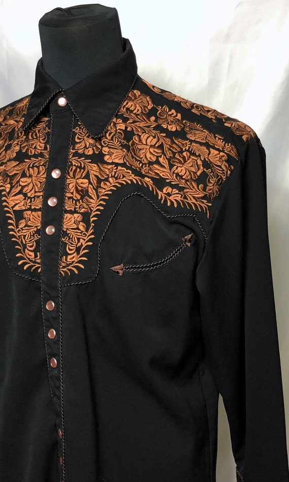 Vintage Reproduction 1990s Mens Scully Embroidere… - image 3