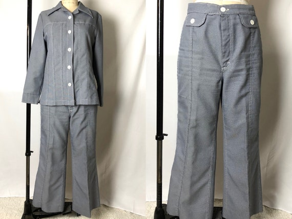 Vintage 1970s Ms Lee Brand Polyester Play Suit, Fa