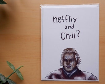Netflix and Chill Funny Typography A4 Poster Print PO372