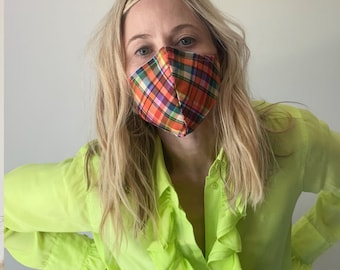 Luxe Face Mask 2.0 - Madras Love