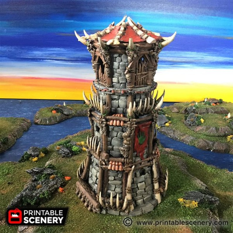 dnd Orc Tribal Fort Tower Warhammer Tabletop Barbarian Village image 0