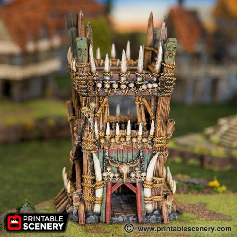 dnd Orc Tribal Tower Warhammer Tabletop Barbarian Village image 0