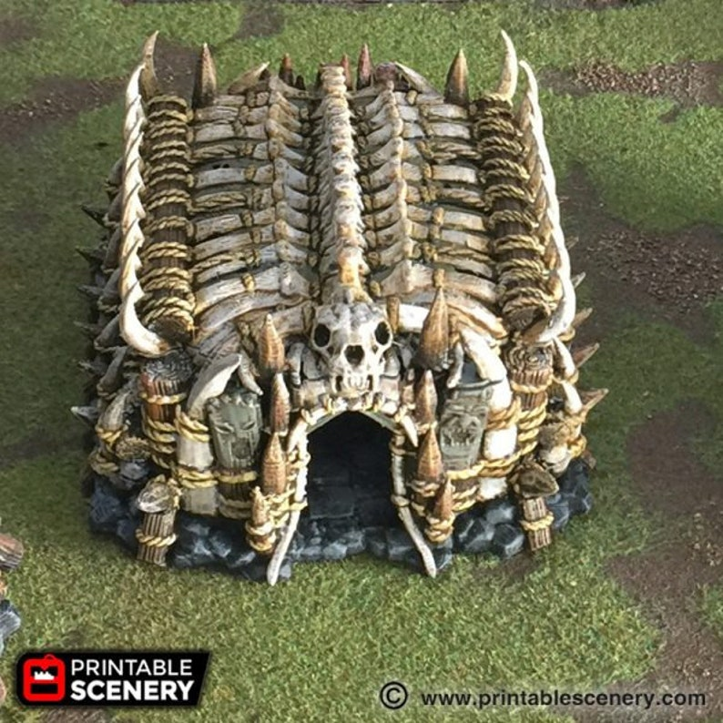 dnd Orc Tribal House Large Hut Warhammer Tabletop Barbarian image 0
