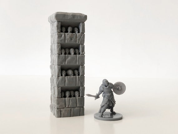 Hand Painted Dungeons and Dragons Will Paint Pillar of Good and Evil Scatter Terrain Miniature