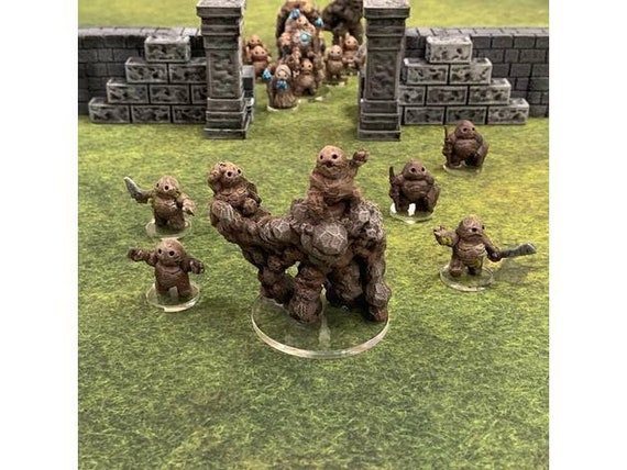 dnd Armies of the Earthenkind Set of 2 STALAGKNIGHTS 28mm earth elemental Tabletop Scatter Miniatures RPG Warhammer D/&D Dungeons and Dragons