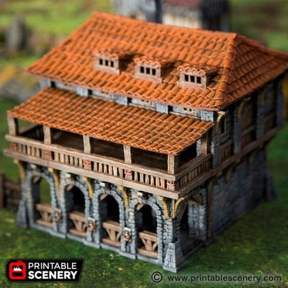 Medieval House  28mm Tabletop Games Dwarven Forge D/&D Terrain Wargaming