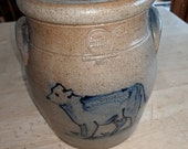 Rowe Pottery Cow Crock with lid