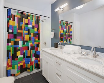 Lego Shower Curtain Etsy